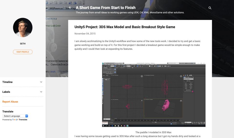 A full screenshot showing Blogger interface