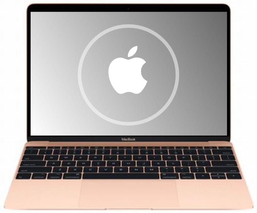 mac with Apple logo