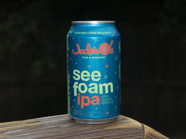 See Foam, an IPA brewed by Jackie O's Pub & Brewery