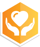 heart in hands icon