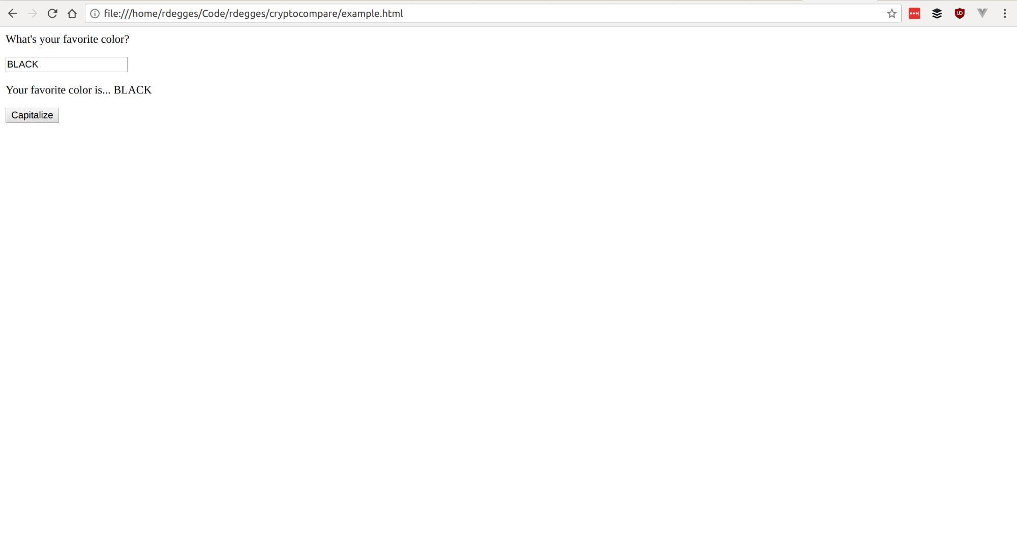 Capitalize Screenshot