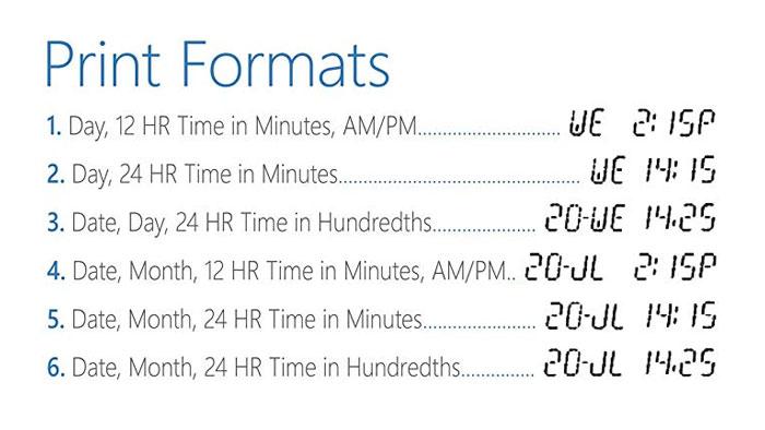 Lathem 2100HD print formats