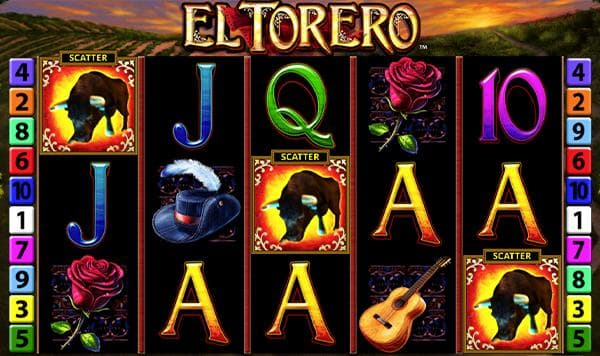 el torero merkur slot drei stier scatter für freispiele screenshot