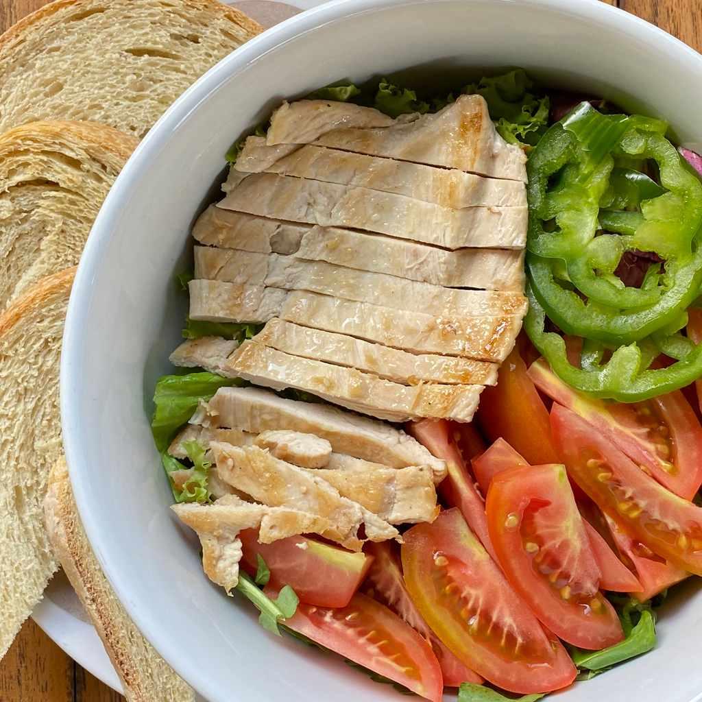 salads: chicken salad