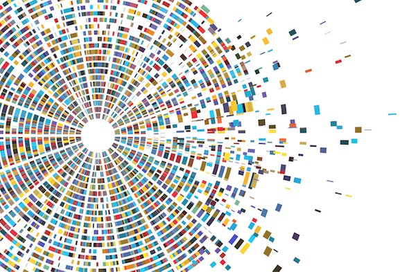 Wall Street Journal news article header image of visualized DNA