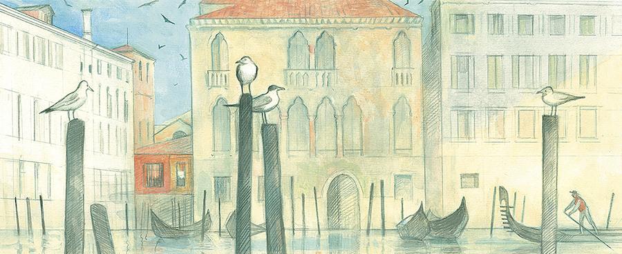 Иллюстрация Александры Семеновой к книге «Вивальди. Времена года»