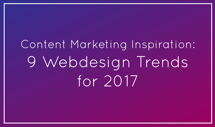 Web Design Trends for 2017