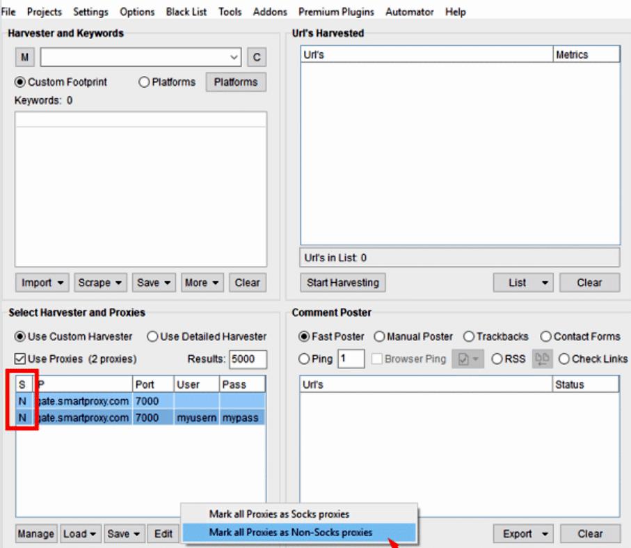 ScrapeBox settings