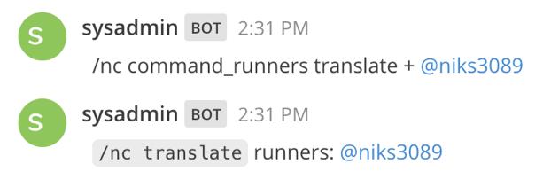 Add Command Runners