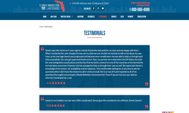 Law Firm Testimonials