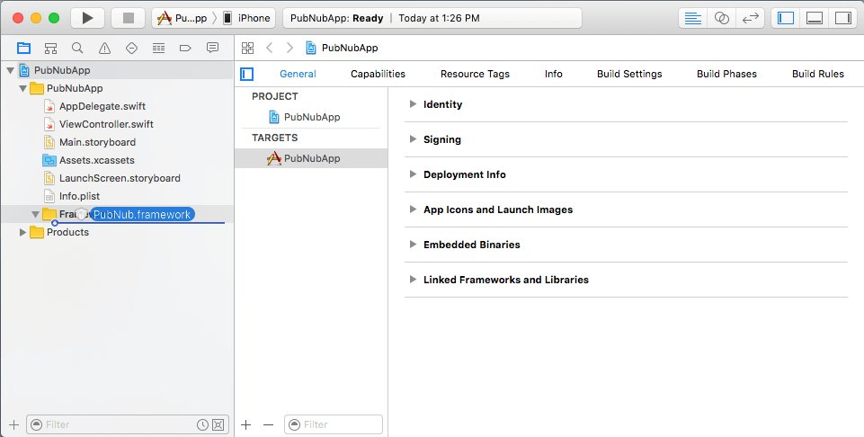 Drag & drop Framework bundle Swift