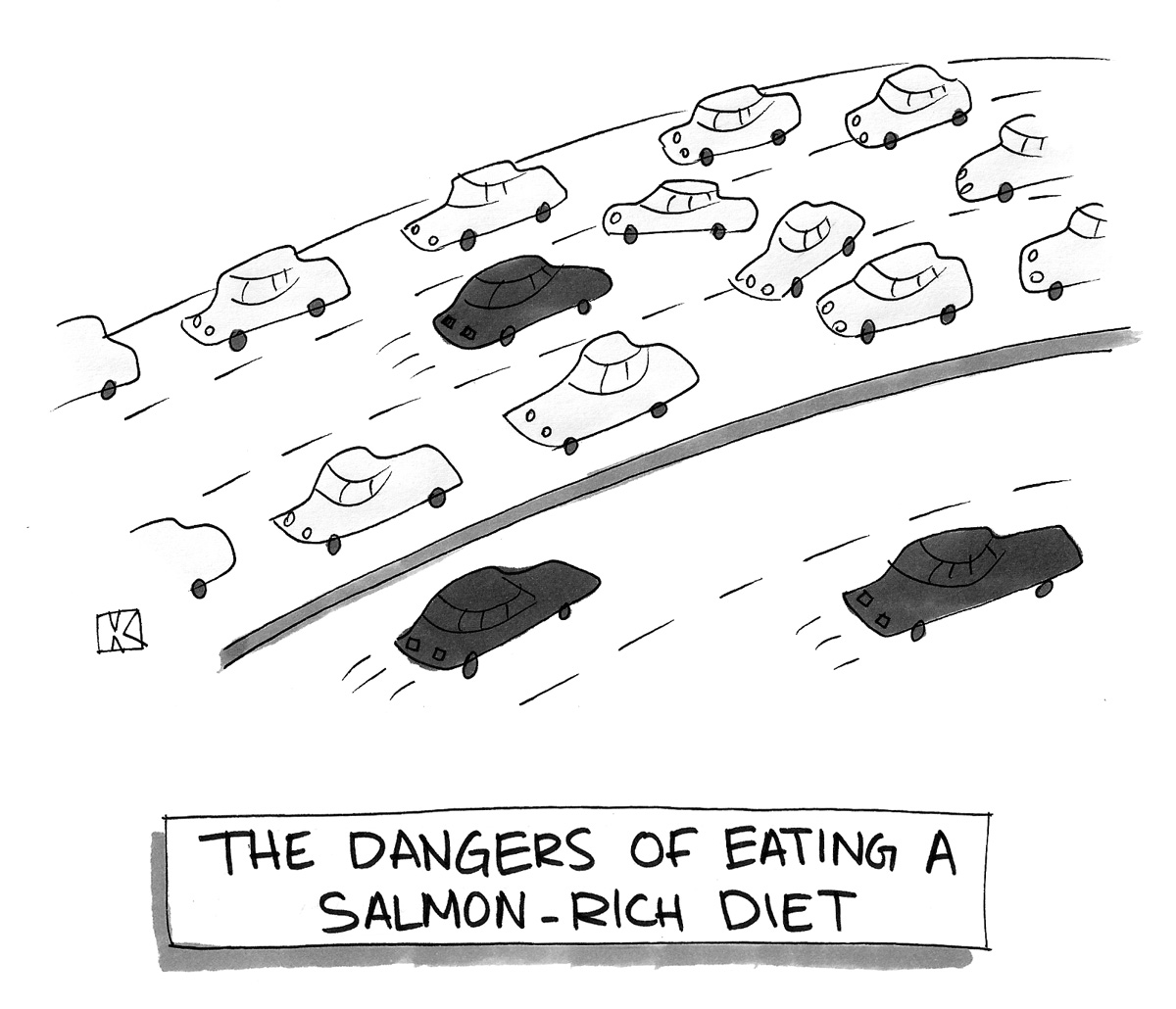 The dangers of eating a salmon-rich diet.
