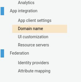Cognito domain name