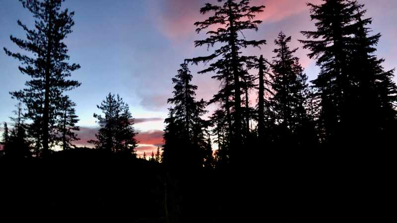 The sky at dawn near Porcupine Lake