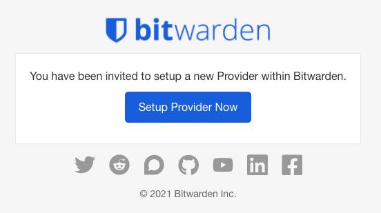 Provider Invitation