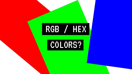 What are RGB and hexadecimal color codes? How colors are coded in computers?