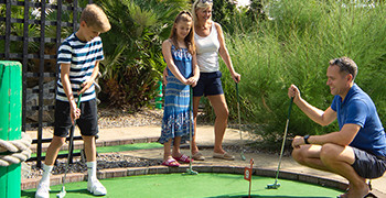 Adventure golf at Potters Resort