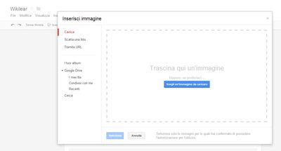 Moduli Google - Carica immagini