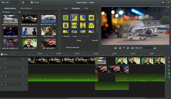 Pitivi open source video editor