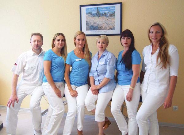 Gruppenfoto: Mark, Jana, Oksana, Elina, Ala, Natalia