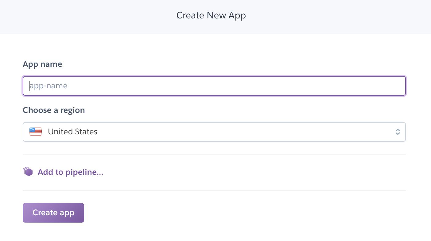 Create Heroku app