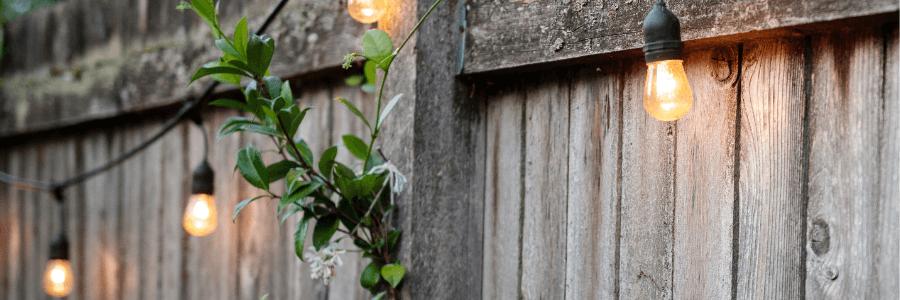 Backyard Makeover - String Lights