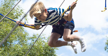 Bungee trampoline at Potters Resort