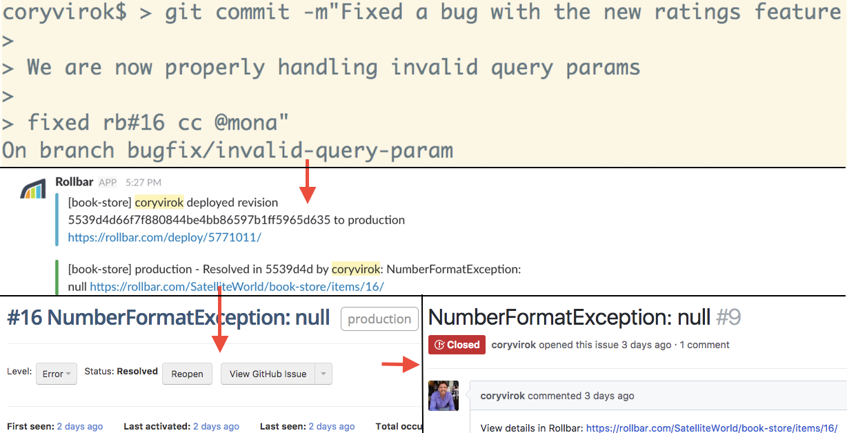 Resolve errors in commits