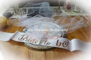 Veil and Sash for Bride to Be