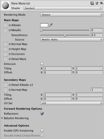 Shader Materials (Unity exporter) - Babylon js Documentation