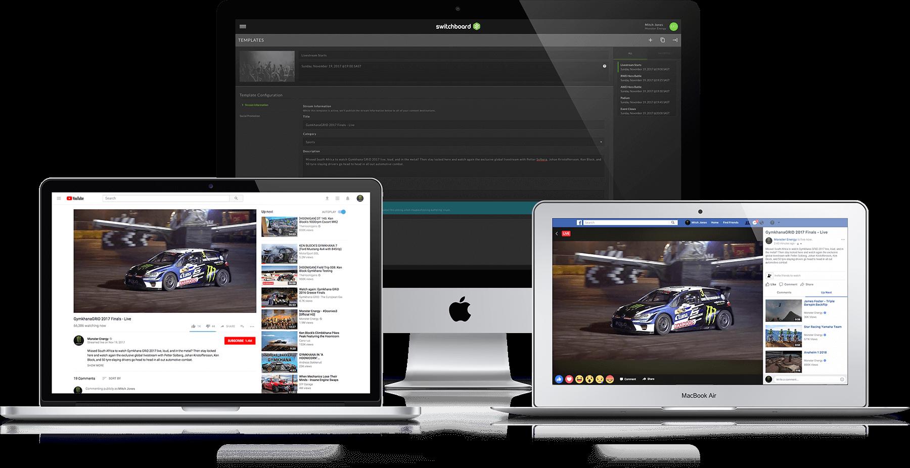 switchboard cloud facebook youtube platform