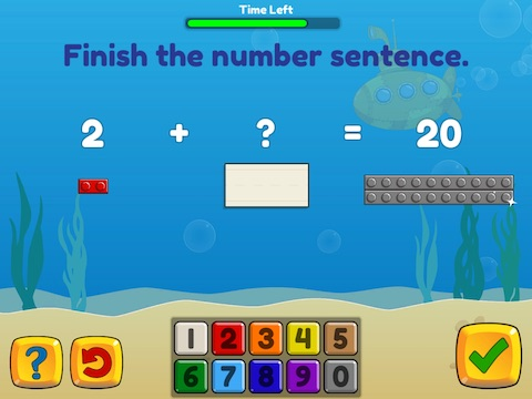 Add and subtract fluently within 20 using brix Math Game