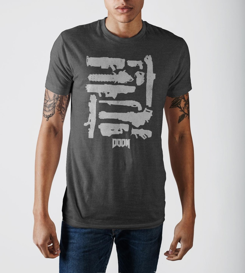 Doom Weapons Graphic Design Logo T-shirt