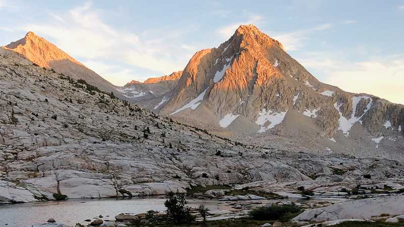 Sapphire Lake and Mt. Huxley in Kings Canyon National Park