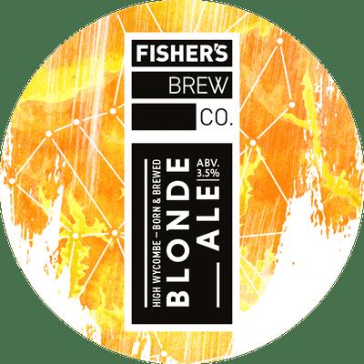 Fisher's Blonde Ale keg badge