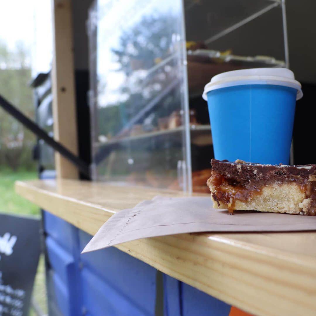 Humbl Coffee van with cake