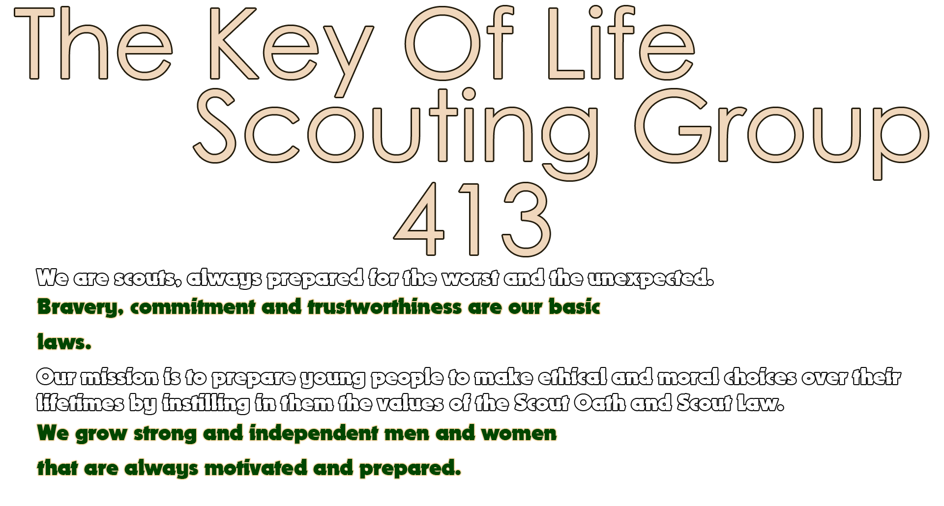 The Key Of Life Scouting Group