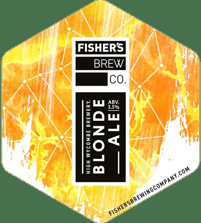 Fisher's Blonde Ale pump clip
