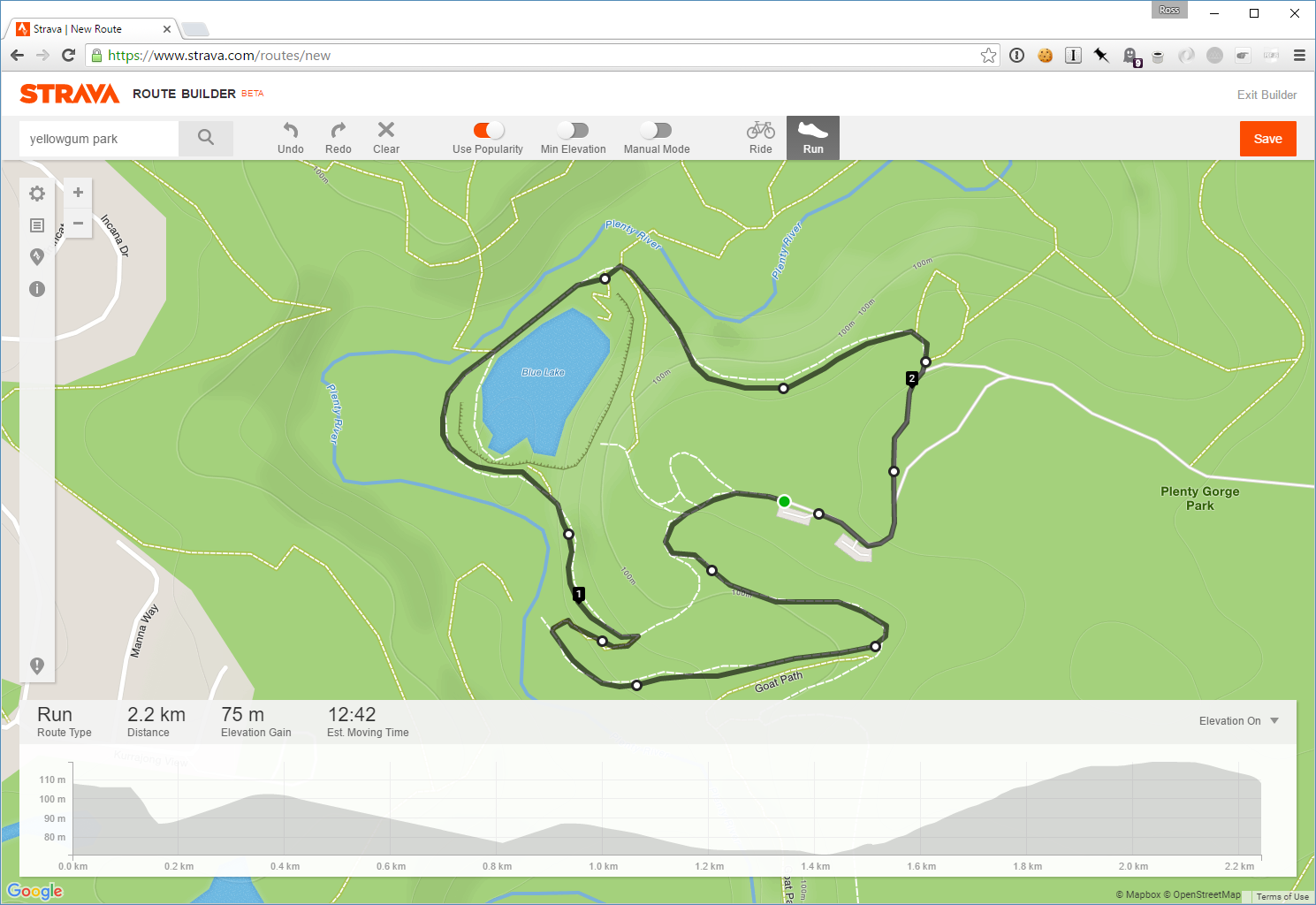 Using Strava to plan your trail run, and hopefully not get too lost