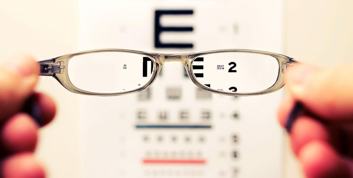 optic board through glasses