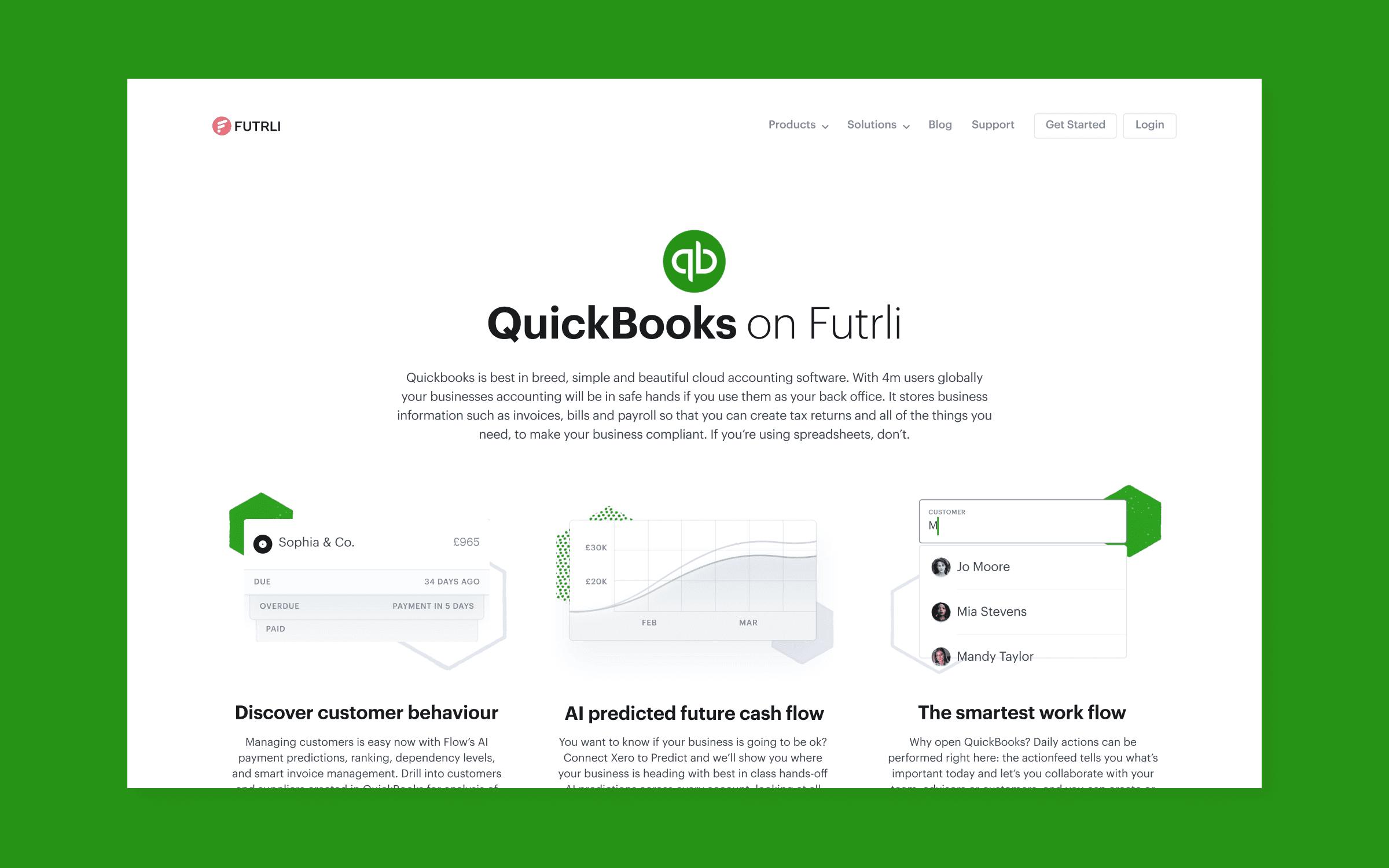 QuickBooks on Futrli