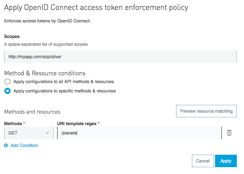 Mulesoft Apply Access Policy