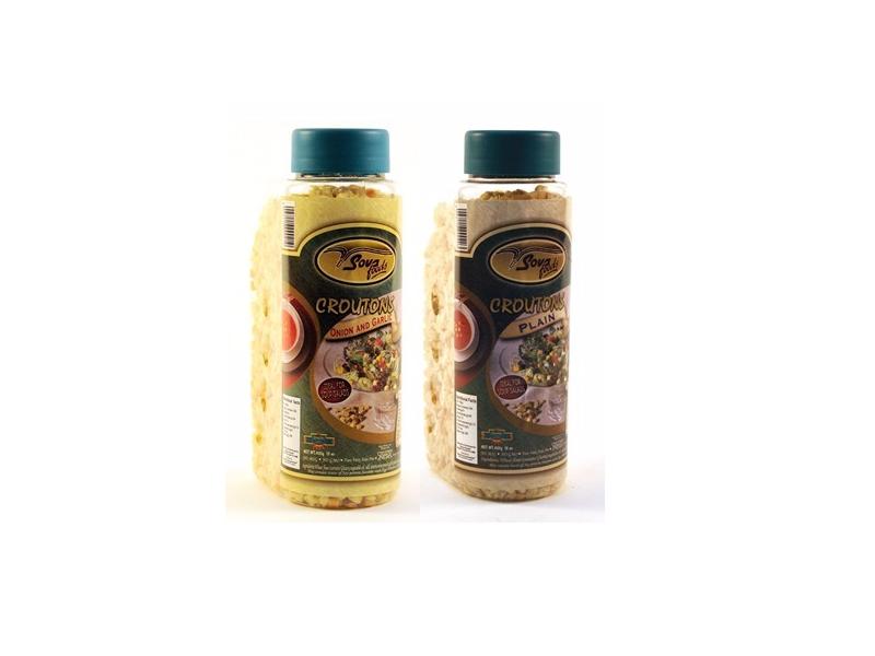 Sova Food's Croutons Plain/Onion & Garlic (425g)