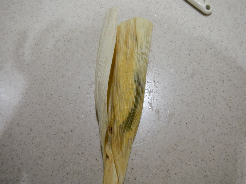 Wrapping the Tamale - Step 1