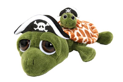 "The Petting Zoo: 10"" Bright Eye Turtle Pirate"