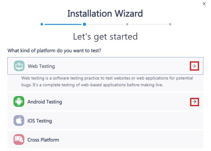 choose testing