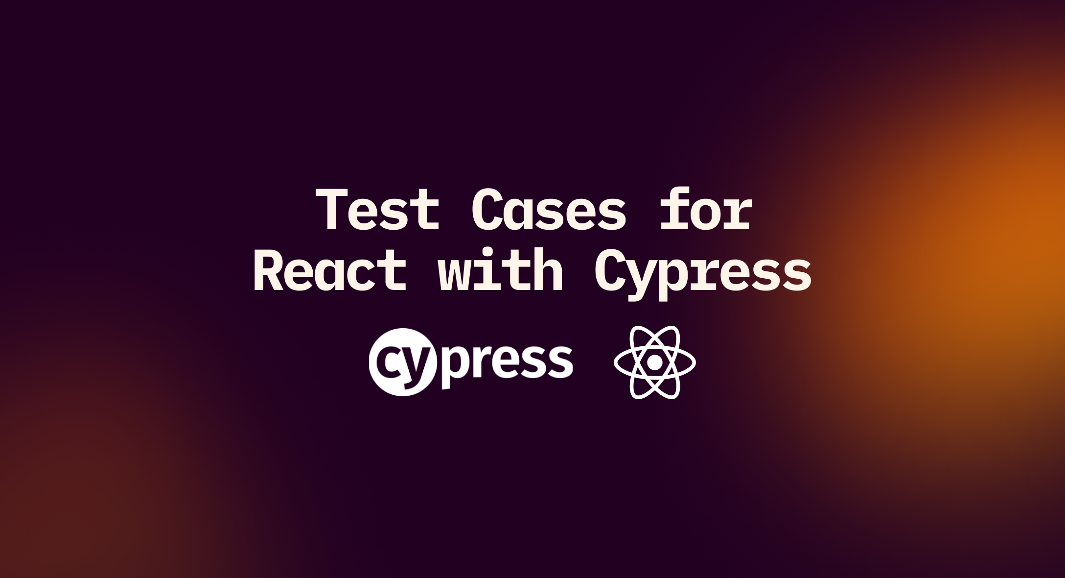 How to write test cases for React with Cypress