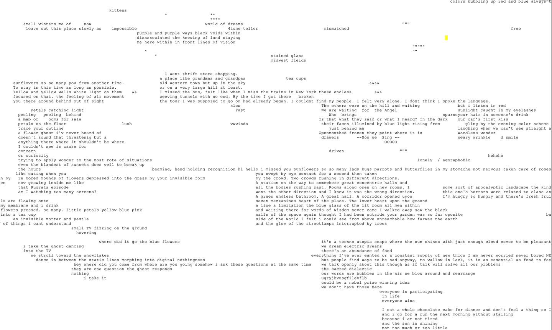 exploring dreams text cloud