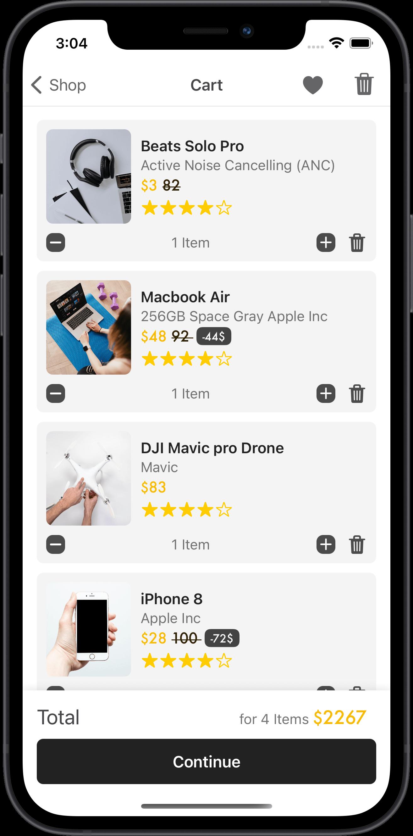 e-commerce, beats, macbook, iphone