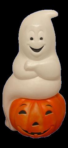 Ghost on Pumpkin photo